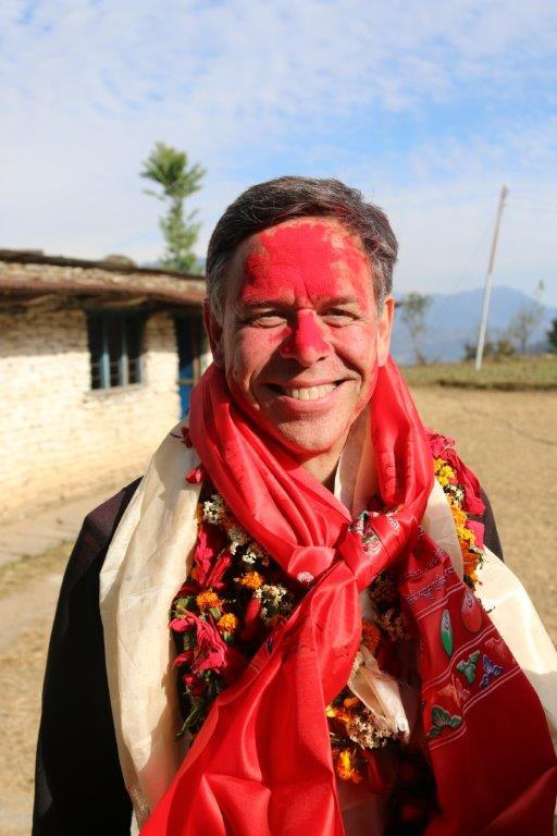 Greg annointed in Nepal