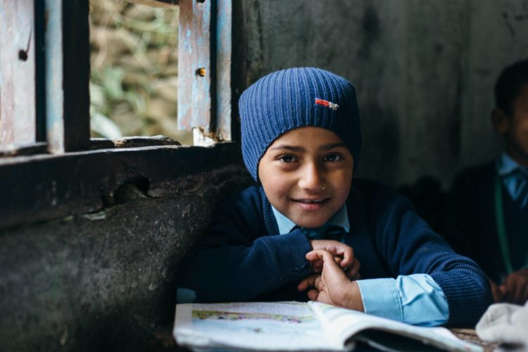 Nepali school boy funded by Himalayan Village Fund.